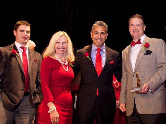 Montgomery County Go Red for Women 2015 Brian Salby, Dr. Ann Snyder, Lonny Soza, Dean Burden