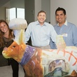 "News, Upper Kirby Game Changer, Karla and Steve Aranda with the Johnny and ""Cow'rrabba, April 2014"
