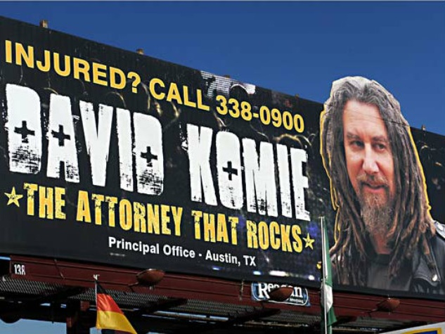 David Komie Attorney that Rocks Billboard
