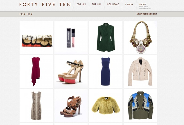 Forty Five Ten website