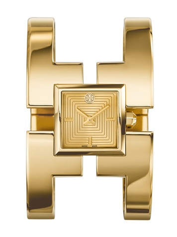 Tory Burch watch collection October 2014 The Sawyer in gold tone