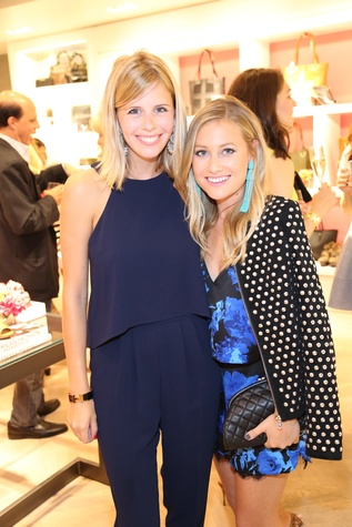 Dallas Bloggers Haley Berry of The Chic Burrow and Lauren Murphy of Murphy's Law at Elaine Turner New York Fashion Week launch party September 2014