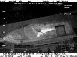 Boston suspect heat photography boat