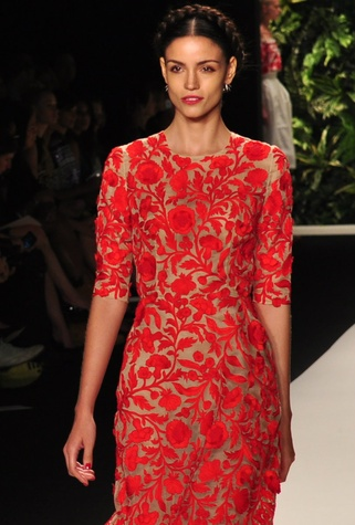 Naeem Khan floral dress, spring collection 2014