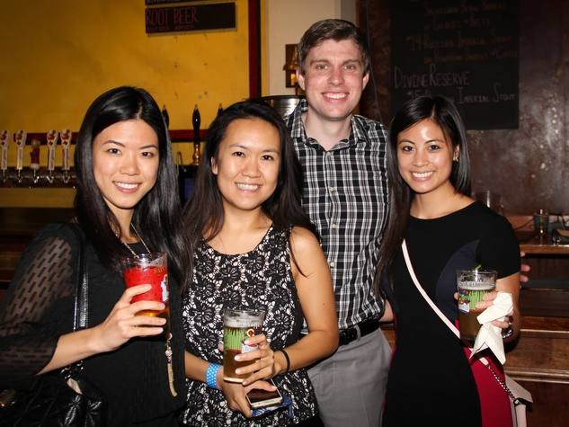 Houston Area Women's Center Young Leaders 7/16   Vera Song, Joyce Zhang, Robby Glenn, Vy Ngoc Nguyen