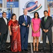 Pallavi and Pinakin Dinesh, from left, John Cornyn and Preeti and Umesh Verma at the IACCGH Gala October 2014