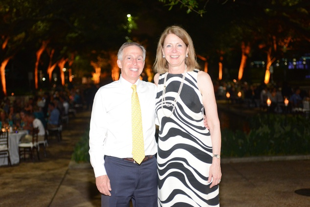 181 Rick Barongi and Deborah Cannon at the Houston Zoo Asante Society dinner April 2014