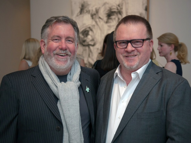 11 Steven Evans, left, and David Klonkowski at Musiqa's Spring Benefit May 2014