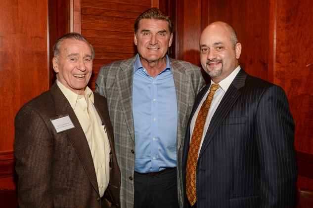122 Walt Cunningham, from left, Dan Pastorini and Stephen L. Morris at Be an Angel March 2014