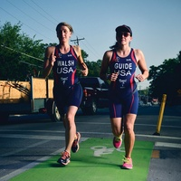 Austin triathletes running
