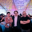 Huda Hutfi, from left, Nazar Yahya and Sadik Alfraji at the FotoFest opening party March 2014