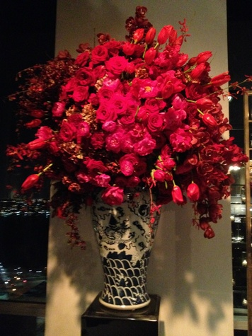 Floral arrangement at Todd Fiscus and Ceron's New York wedding