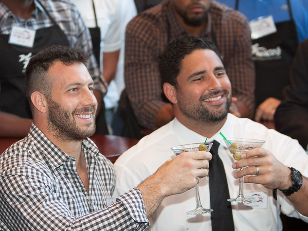 Owen Daniels, celebrity dinner, Houston Texas, September 2012, Texans Connor Barwin and Shaun Cody