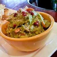 Amazon Grill new menu September 2013 guacumami avocado, roasted garlic, sundried tomatoes, Parmesan and toasted pepitas or pumpkin seed