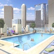 SkyHouse Houston, high rise, rendering, swimming pool, 1625 Main St., November 2012