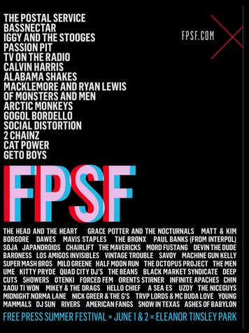 Free Press Summer Fest Houston lineup May 2013