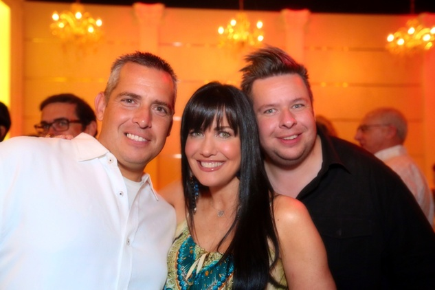2840 Scott Beverly, from left, Tiffany Halik and Chris Beverly at the Crimson grand opening party July 2014