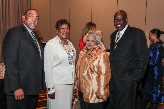 Charles and Lillian Wheat, from left, and Mary and Ivory Varner at the College of Biblical Studies Rising Star Dinner May 2014