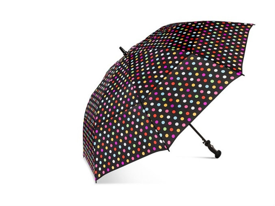 Polka dot golf umbrella from Target