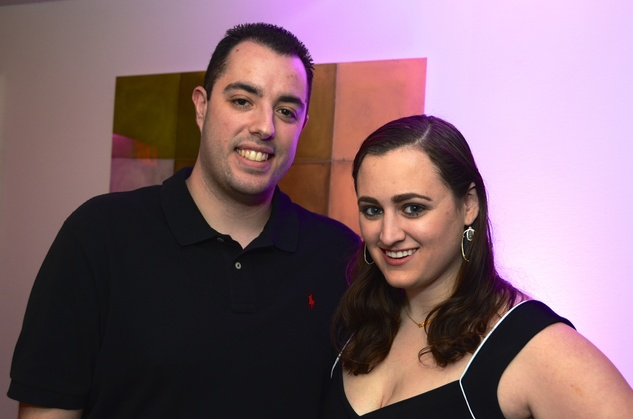 Marten Mckeown and Ali Valach at the Flavour launch at Hotel Derek February 2015