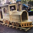 wooden train at Donovan Park in the Heights February 2014
