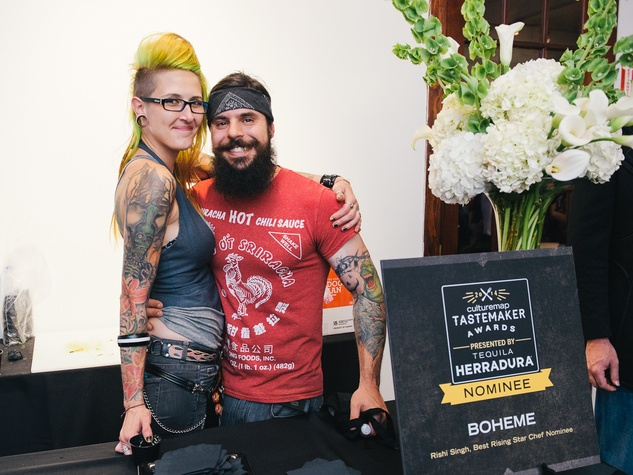 23 Heather Heil and Jordan Economy at CultureMap's 2014 Tastemakers Awards May 2014