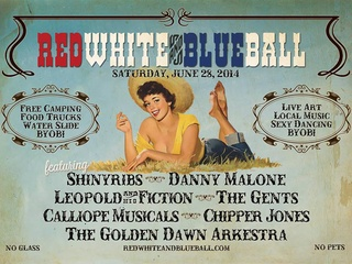 poster for 2014 Red White and Blue Ball