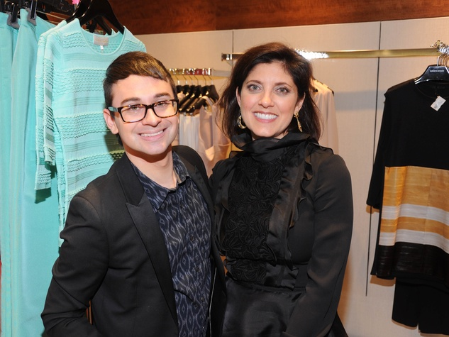 Christian Siriano, Stacey Lindseth at Passion for Fashion party at Elizabeth Anthony