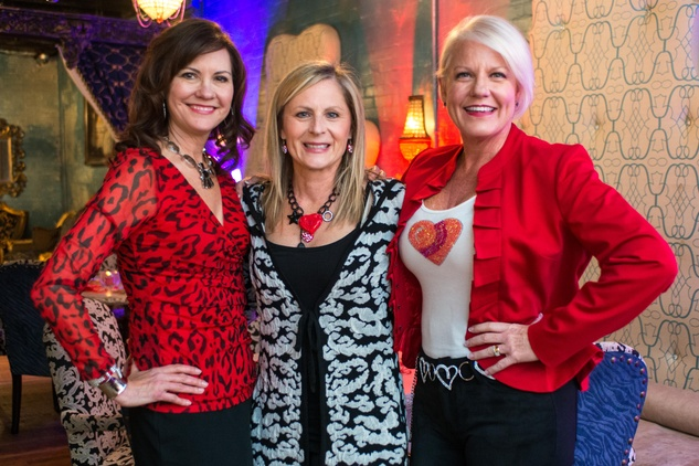 Houston Sweethearts, Feb. 2016, Angie Roberts, Robin Spring, & Heidi Olson