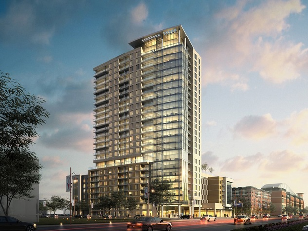 Marquette Cos. Catalyst high-rise apartment tower Minute Maid Park October 2014