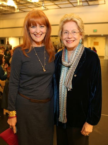 Gracie Cavnar, left, and Mary Kelly at the Alley Theatre Opening Night Dinner January 2014 THIS.jpg