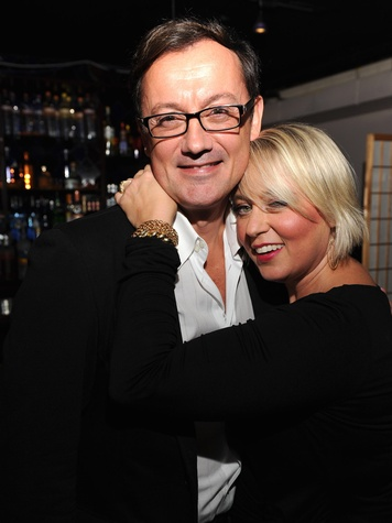 Houstonians in NY, October 2012, Filmmaker Michel Muylle, shown here with Kristine Mills