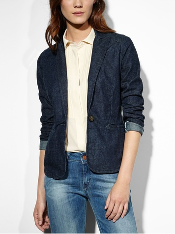 levi's denim blazer