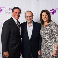 John O'Shea, from left, Bob Newhart and Charlene O'Shea at the CHRISTUS Foundation for HealthCare spring luncheon April 2015