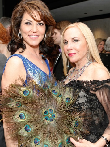 196 Jessica Rossman, left, and Carolyn Farb at the STAGES Xanadu Gala April 2014