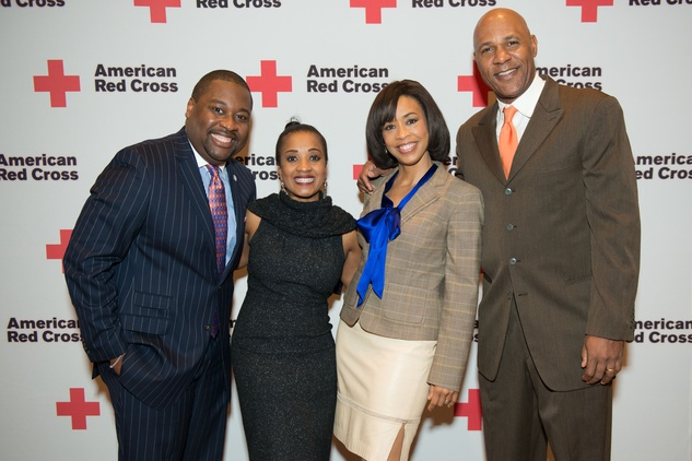 News, Shelby, Red Cross Luncheon, Feb. 2015, Ronald Jackson, Regina Jackson, Gina Gaston Elie, Mario Elie