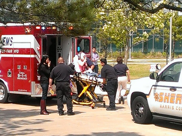 Lone Star College Cy-Fair, stabbings, ambulance, victim
