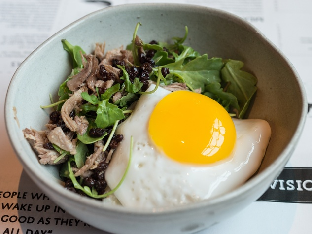 Duck egg and duck confit at The Pass & Provisions