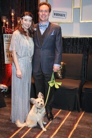 Paige and Bob Martin with Miss Celie at Cap Gala