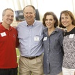 Dr. Marc Boom, from left, Rod Canion, Cam Canion and Julie Boom at The Society for Leading Medicine Houston Texans Family Field Day May 2014