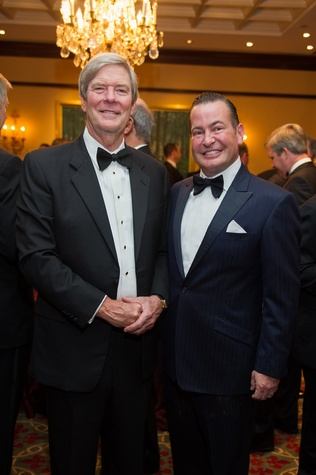Buddy Hopson, left, and Bo Hopson at the Alley Theatre Wild Things Dinner October 2014