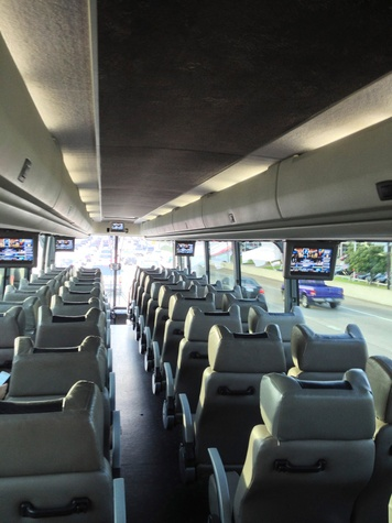 Starline bus service to football games bus interior 3 September 2013