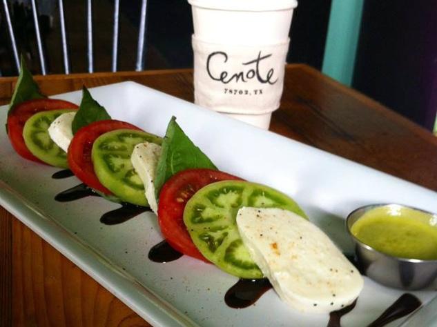 Caprese Salad At Cenote Restaurant In Austin