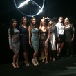 Guests attending the Herve Leger show at New York fashion week