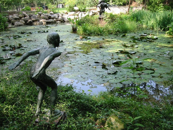 Austin Photo: Places_Arts_Umlauf_Sculpture_Garden_Pond