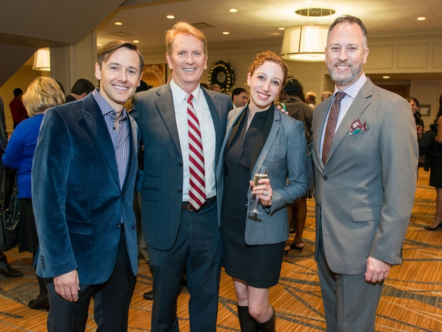 2 Kevin Gilliard, from left, Frank Billingsley, P'nina Topham and Phil Eaton at the AIDS Foundation Houston luncheon December 2014