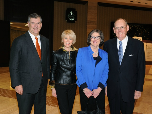 Mayor Mike Rawlings, Della Best, Molly Bogen, Bob Best, the senior source