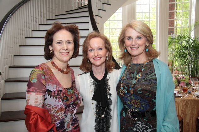 Franelle Rogers, Carol Sawyer, Denise Monteleone Crohn's & Colitis luncheon, March 2014