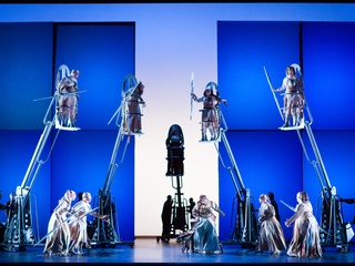 Scene from Houston Grand Opera production of Die Walkure