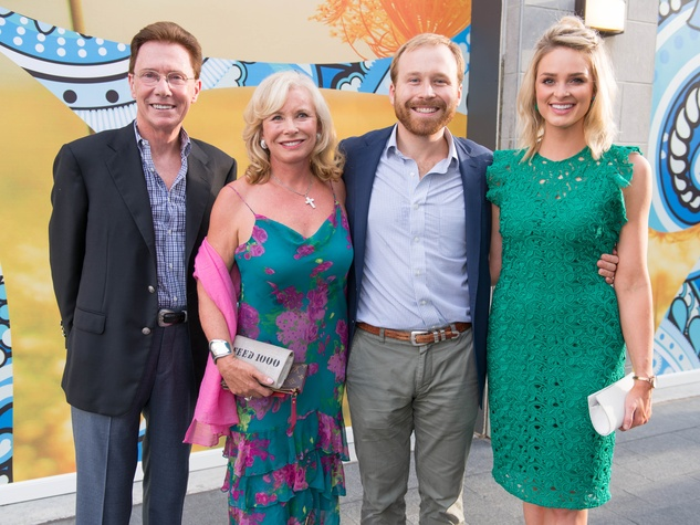 Ben-Hur premiere, Aug. 2016, Ray Ballentyne, Sharon Bush, Pierce Bush, Sarabeth Melton